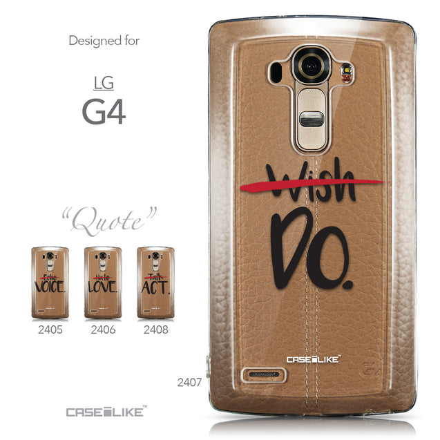 Collection - CASEiLIKE LG G4 back cover Quote 2407
