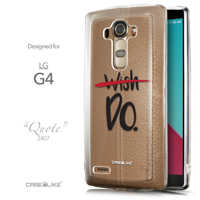 Front & Side View - CASEiLIKE LG G4 back cover Quote 2407