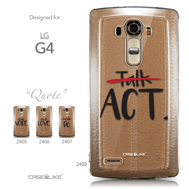 Collection - CASEiLIKE LG G4 back cover Quote 2408