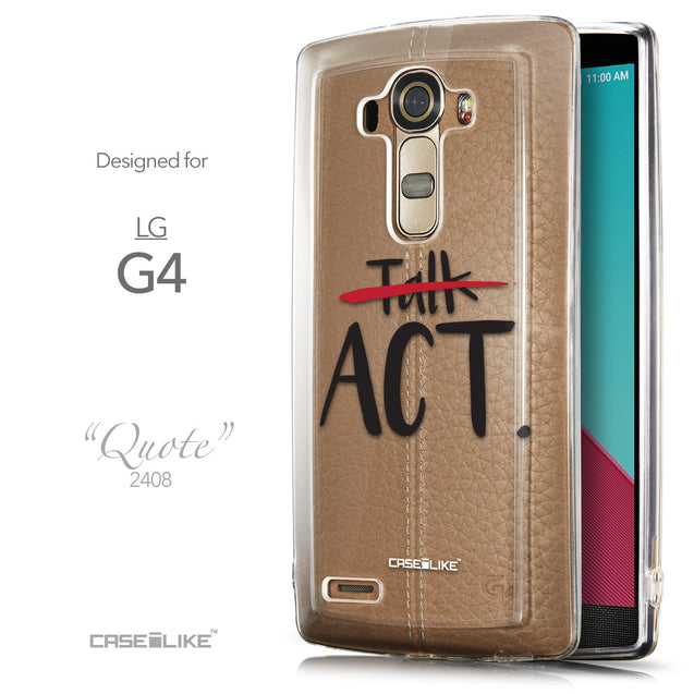 Front & Side View - CASEiLIKE LG G4 back cover Quote 2408