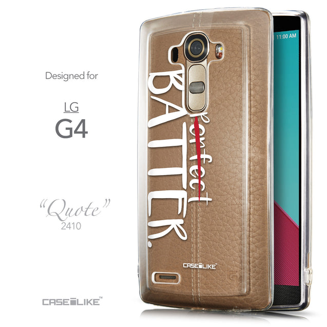 Front & Side View - CASEiLIKE LG G4 back cover Quote 2410