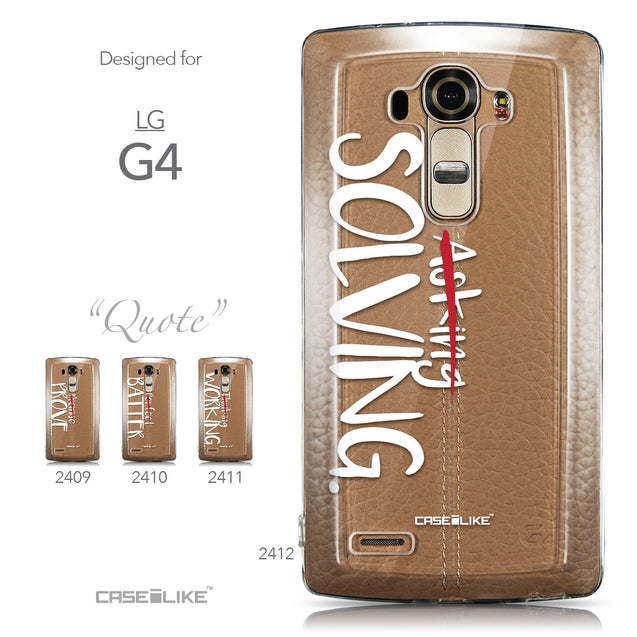 Collection - CASEiLIKE LG G4 back cover Quote 2412