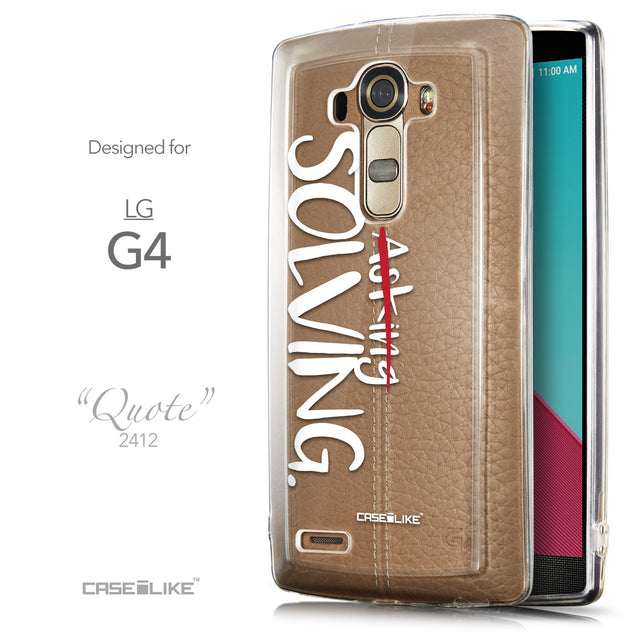Front & Side View - CASEiLIKE LG G4 back cover Quote 2412