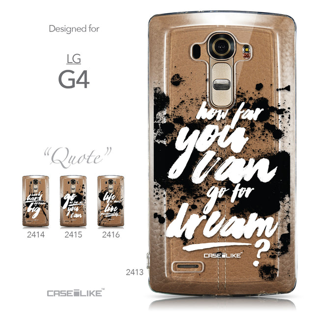 Collection - CASEiLIKE LG G4 back cover Quote 2413