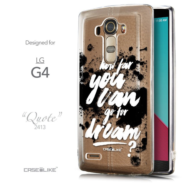 Front & Side View - CASEiLIKE LG G4 back cover Quote 2413