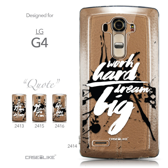 Collection - CASEiLIKE LG G4 back cover Quote 2414