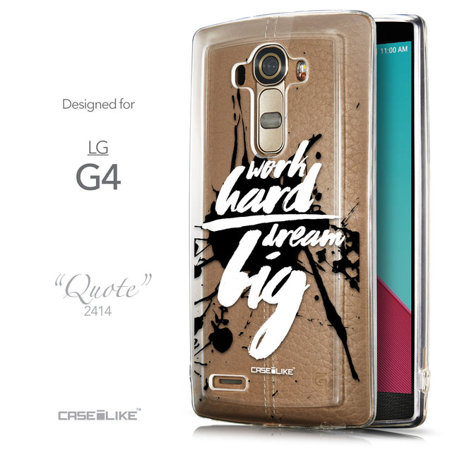 Front & Side View - CASEiLIKE LG G4 back cover Quote 2414