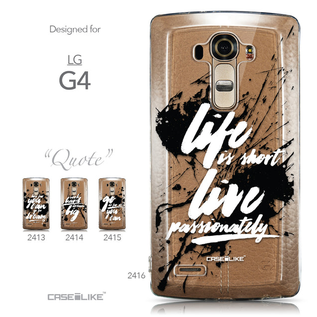Collection - CASEiLIKE LG G4 back cover Quote 2416