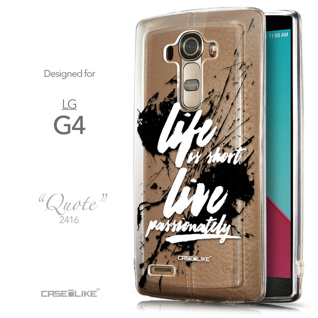 Front & Side View - CASEiLIKE LG G4 back cover Quote 2416