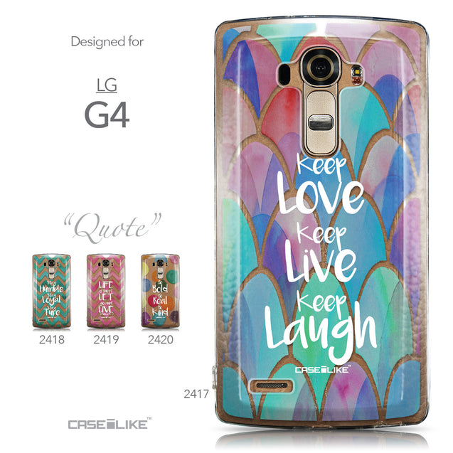 Collection - CASEiLIKE LG G4 back cover Quote 2417