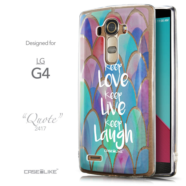 Front & Side View - CASEiLIKE LG G4 back cover Quote 2417