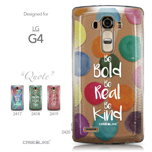 Collection - CASEiLIKE LG G4 back cover Quote 2420