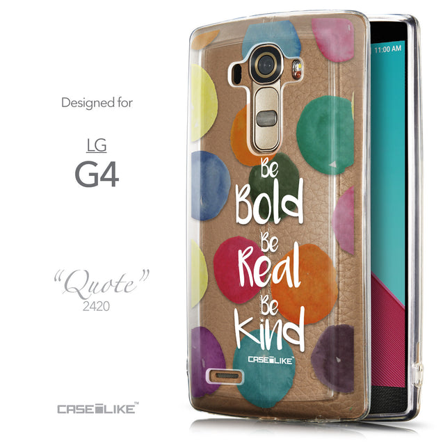 Front & Side View - CASEiLIKE LG G4 back cover Quote 2420