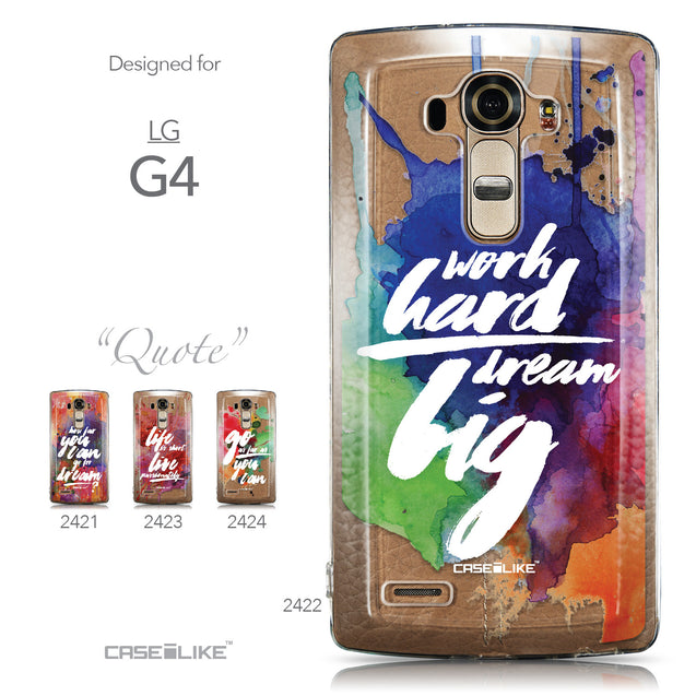 Collection - CASEiLIKE LG G4 back cover Quote 2422