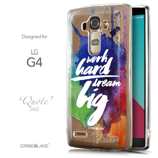 Front & Side View - CASEiLIKE LG G4 back cover Quote 2422