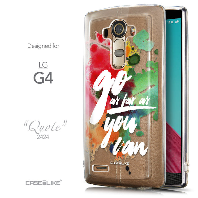 Front & Side View - CASEiLIKE LG G4 back cover Quote 2424