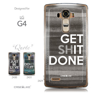 Collection - CASEiLIKE LG G4 back cover Quote 2429