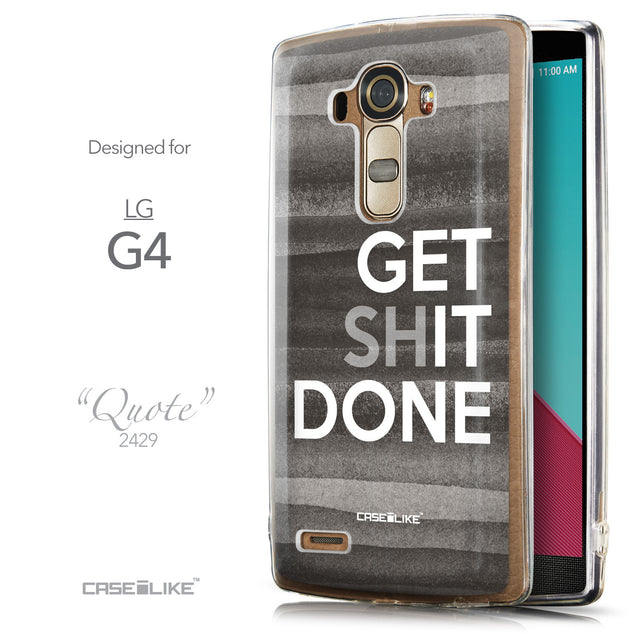 Front & Side View - CASEiLIKE LG G4 back cover Quote 2429
