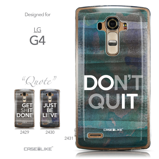 Collection - CASEiLIKE LG G4 back cover Quote 2431
