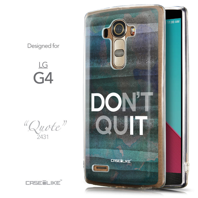 Front & Side View - CASEiLIKE LG G4 back cover Quote 2431