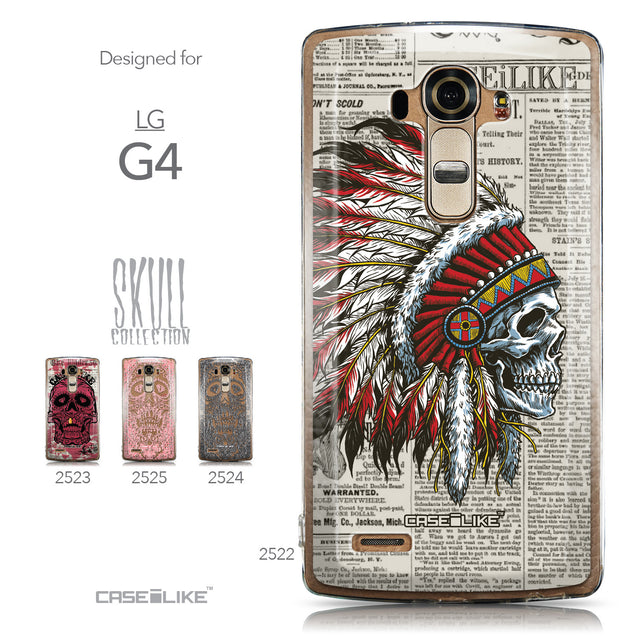 Collection - CASEiLIKE LG G4 back cover Art of Skull 2522