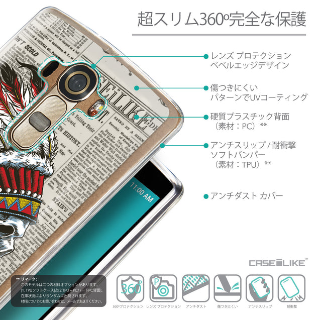 Details in Japanese - CASEiLIKE LG G4 back cover Art of Skull 2522