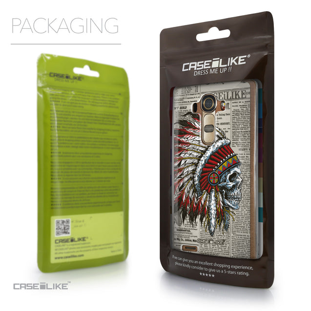 Packaging - CASEiLIKE LG G4 back cover Art of Skull 2522