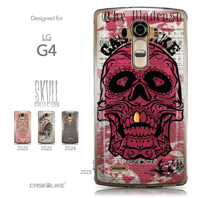 Collection - CASEiLIKE LG G4 back cover Art of Skull 2523