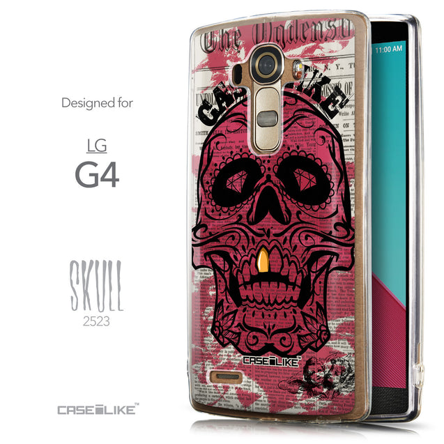 Front & Side View - CASEiLIKE LG G4 back cover Art of Skull 2523
