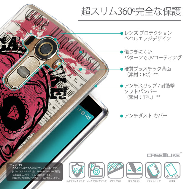 Details in Japanese - CASEiLIKE LG G4 back cover Art of Skull 2523
