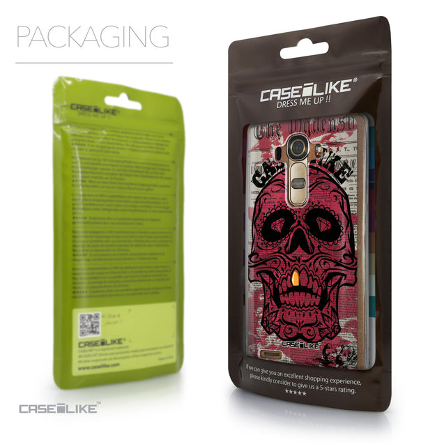 Packaging - CASEiLIKE LG G4 back cover Art of Skull 2523