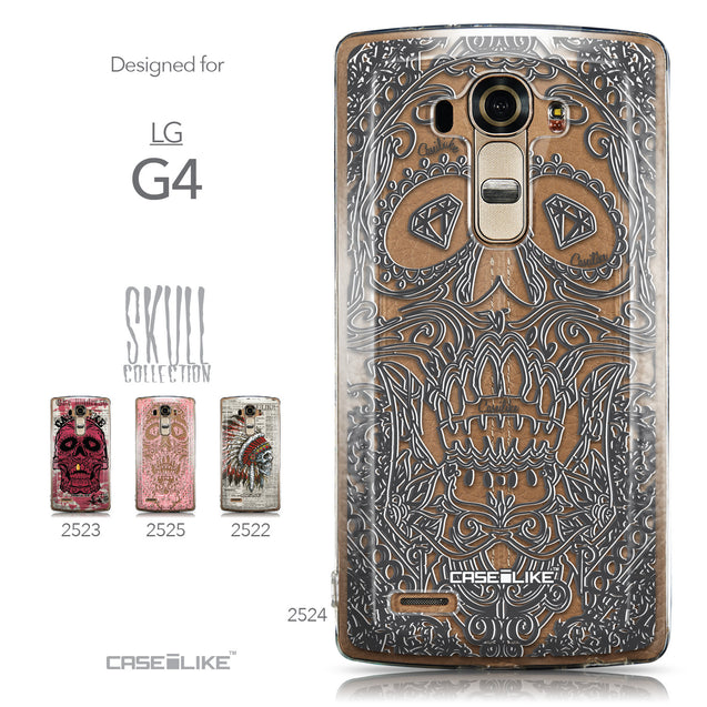 Collection - CASEiLIKE LG G4 back cover Art of Skull 2524