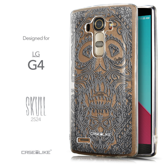 Front & Side View - CASEiLIKE LG G4 back cover Art of Skull 2524