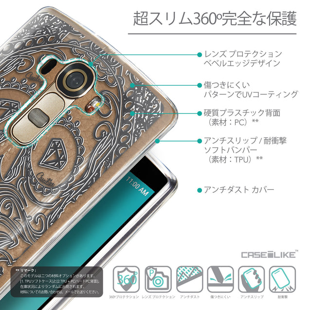 Details in Japanese - CASEiLIKE LG G4 back cover Art of Skull 2524