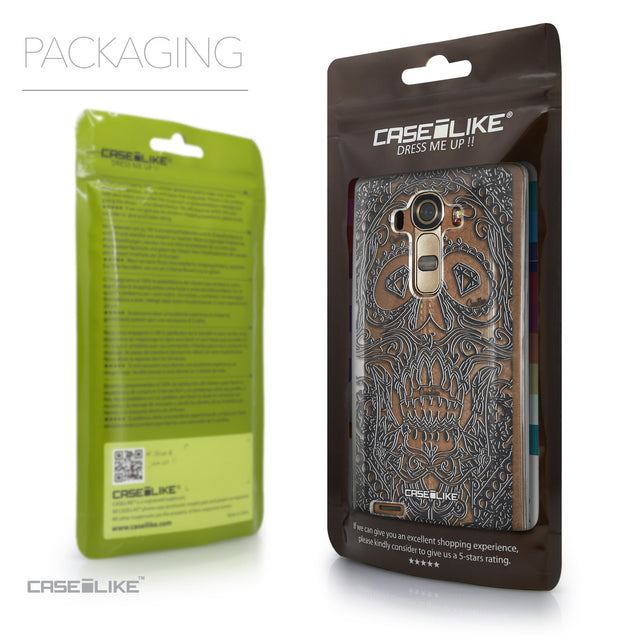 Packaging - CASEiLIKE LG G4 back cover Art of Skull 2524