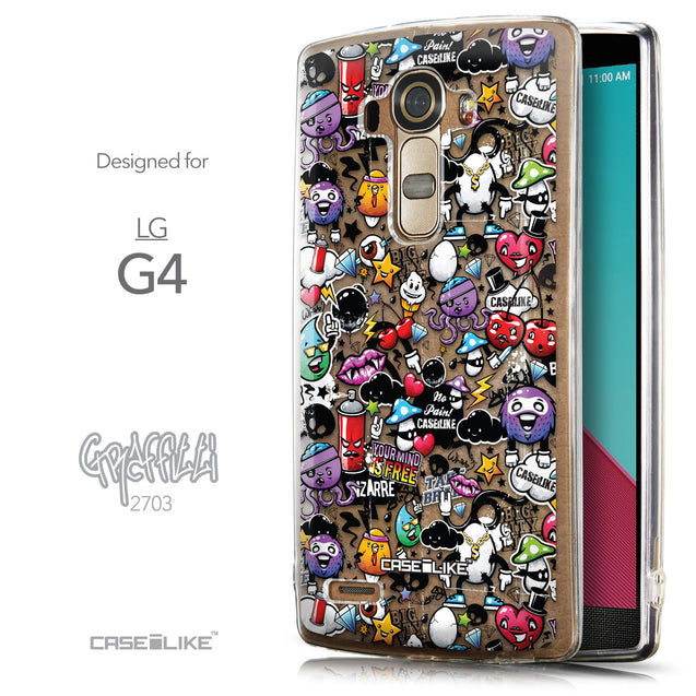 Front & Side View - CASEiLIKE LG G4 back cover Graffiti 2703