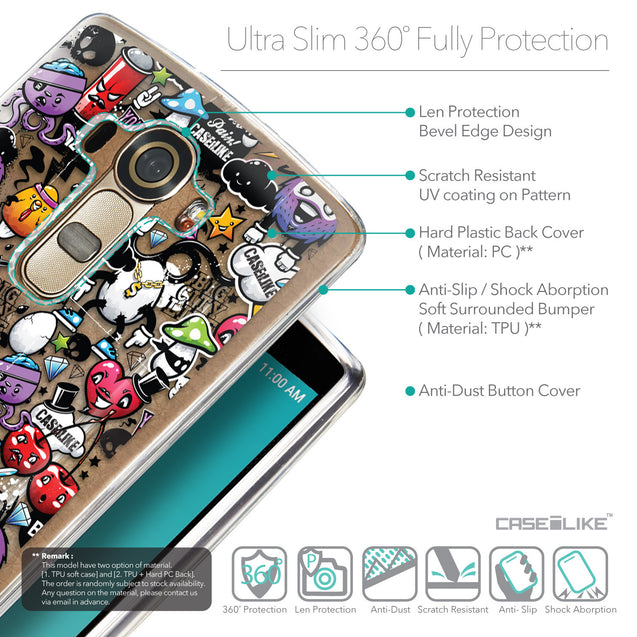 Details in English - CASEiLIKE LG G4 back cover Graffiti 2703