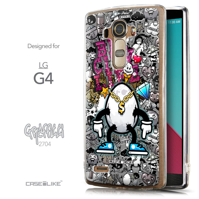 Front & Side View - CASEiLIKE LG G4 back cover Graffiti 2704