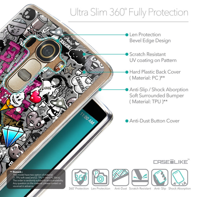 Details in English - CASEiLIKE LG G4 back cover Graffiti 2704