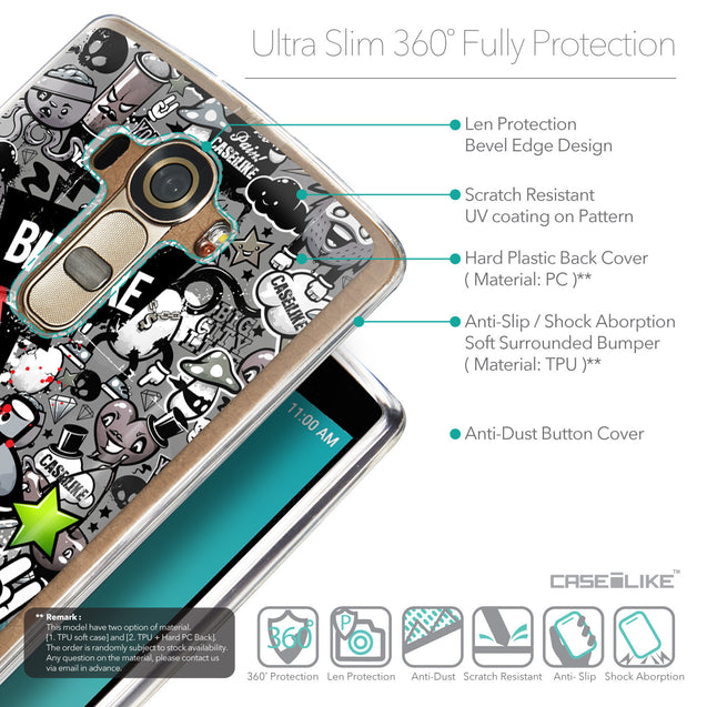 Details in English - CASEiLIKE LG G4 back cover Graffiti 2705