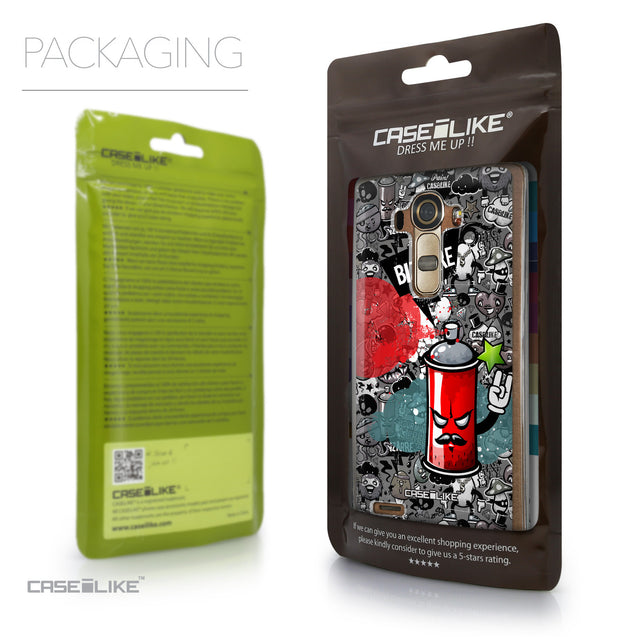 Packaging - CASEiLIKE LG G4 back cover Graffiti 2705