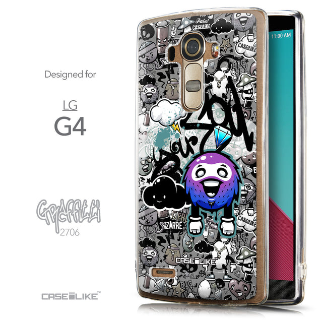 Front & Side View - CASEiLIKE LG G4 back cover Graffiti 2706