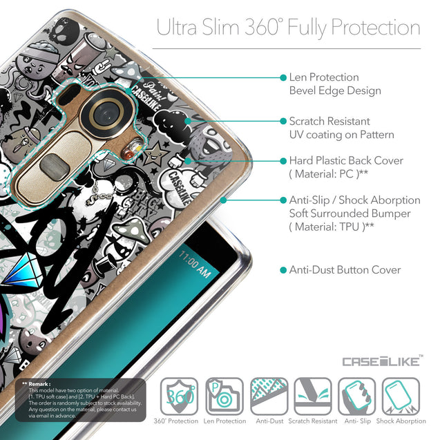 Details in English - CASEiLIKE LG G4 back cover Graffiti 2706