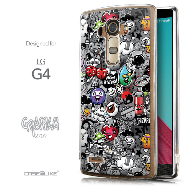 Front & Side View - CASEiLIKE LG G4 back cover Graffiti 2709