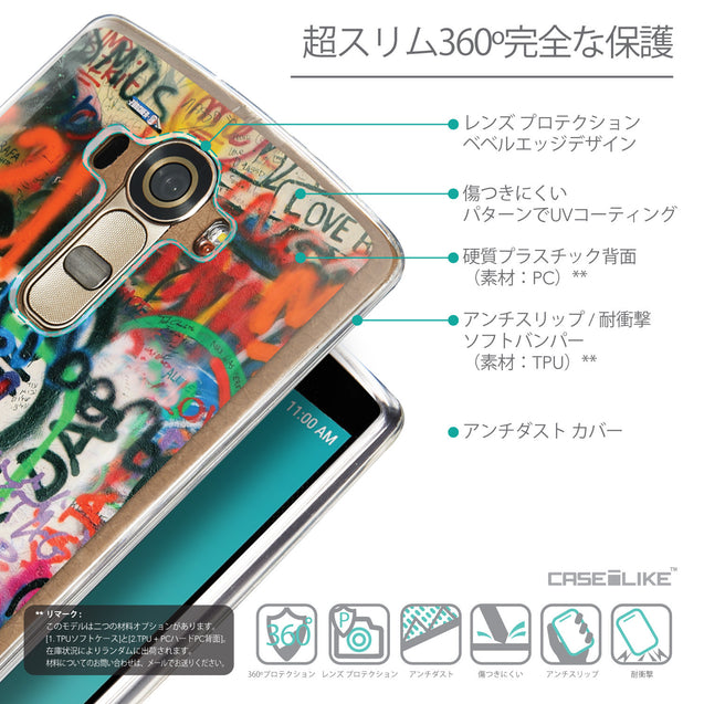 Details in Japanese - CASEiLIKE LG G4 back cover Graffiti 2721