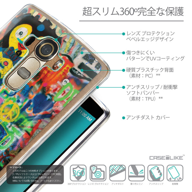 Details in Japanese - CASEiLIKE LG G4 back cover Graffiti 2723