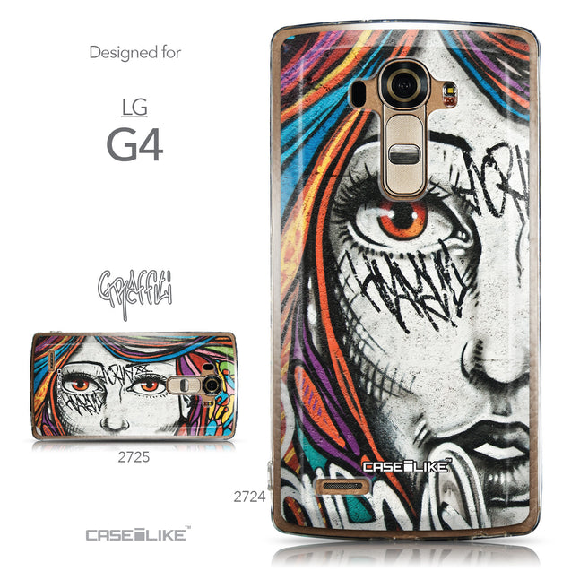 Collection - CASEiLIKE LG G4 back cover Graffiti Girl 2724
