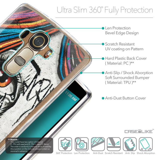 Details in English - CASEiLIKE LG G4 back cover Graffiti Girl 2724
