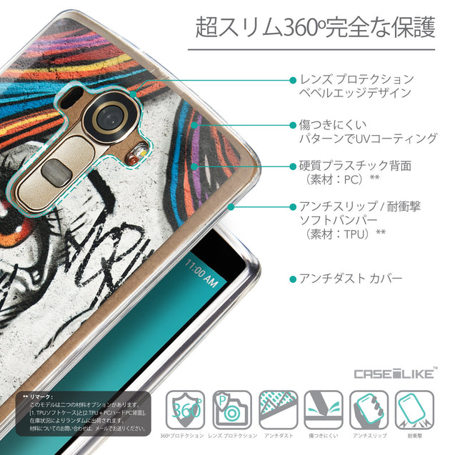 Details in Japanese - CASEiLIKE LG G4 back cover Graffiti Girl 2724