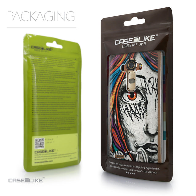 Packaging - CASEiLIKE LG G4 back cover Graffiti Girl 2724
